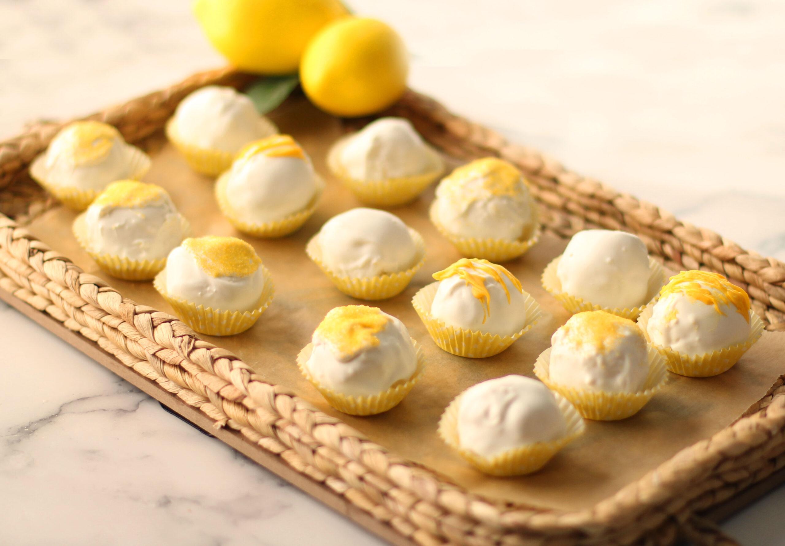Lemon Creme Cake Balls